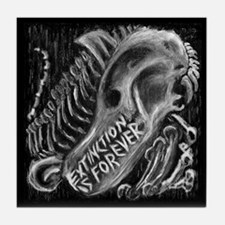 Extinction is Forever Tile Coaster