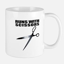 Runs with scissors. Funny Mug