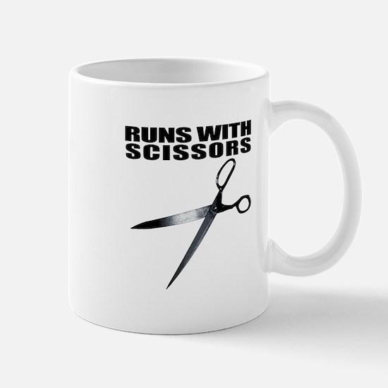 Runs with scissors. Funny Mug