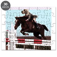 riding dog horse jump Puzzle