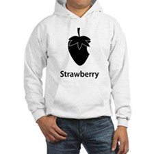 Strawberry (black) Sudaderas con capucha