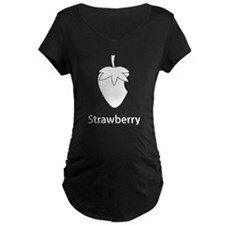 Strawberry (black) Maternity T-Shirt