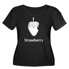 Strawberry (black) Plus Size T-Shirt