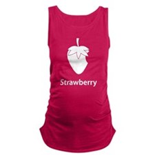 Strawberry (black) Maternity Tank Top