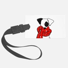 Jack Russell Red Scarf Luggage Tag