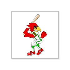 Cardinal Baseball Player Sticker