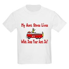 Firefighter Saves Lives-Aunt Kids T-Shirt