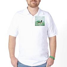 Watercolor Loon Wilderness Lake Bird Art T-Shirt