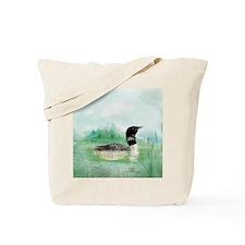 Watercolor Loon Wilderness Lake Bird Art Tote Bag