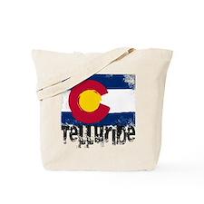 Telluride Grunge Flag Tote Bag