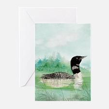 Watercolor Loon Wilderness Lake Bird Art Greeting