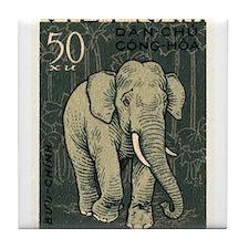 Vintage 1961 Vietnam Elephant Postage Stamp Tile C