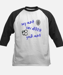 My Aunt can Arrest yours Kids Baseball Jersey