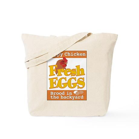 Happy Chicken Fresh Eggs Tote Bag