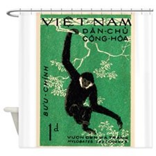 Vintage 1961 Vietnam Gibbon Postage Stamp Shower C