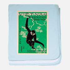 Vintage 1961 Vietnam Gibbon Postage Stamp baby bla