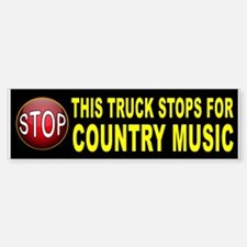 COUNTRY MUSIC BUMPER Bumper Bumper Bumper Sticker