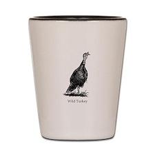 Wild Turkey (line art) Shot Glass