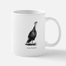 Wild Turkey (line art) Mugs