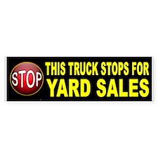 YARD SALE BUMPER Bumper Car Car Sticker
