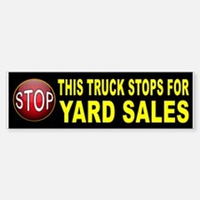 YARD SALE BUMPER Bumper Car Car Sticker