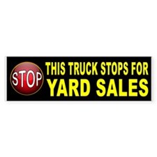YARD SALE BUMPER Bumper Car Sticker