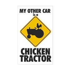 Chicken Tractor Car Sticker (Rectangular