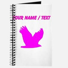 Custom Pink Flying Eagle Silhouette Journal