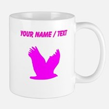 Custom Pink Flying Eagle Silhouette Mugs