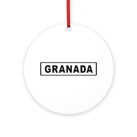 Roadmarker Granada - Spain Ornament (Round)