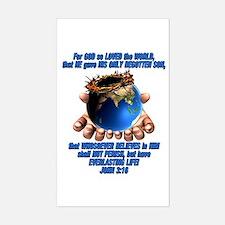 John 3:16 Rectangle Decal
