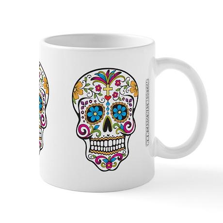 SugarSkull Halloween White Mugs