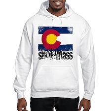 Snowmass Grunge Flag Hoodie Sweatshirt