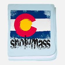 Snowmass Grunge Flag baby blanket