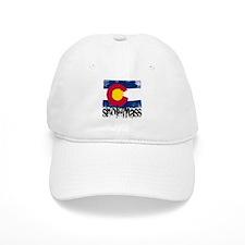 Snowmass Grunge Flag Baseball Cap