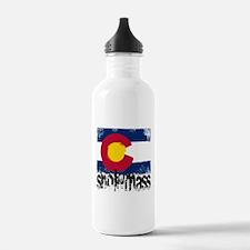 Snowmass Grunge Flag Water Bottle