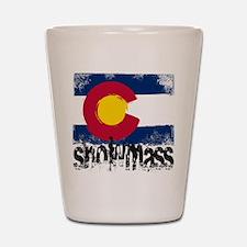 Snowmass Grunge Flag Shot Glass