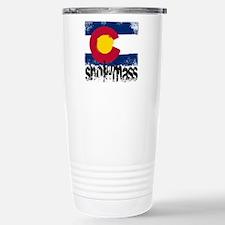 Snowmass Grunge Flag Stainless Steel Travel Mug
