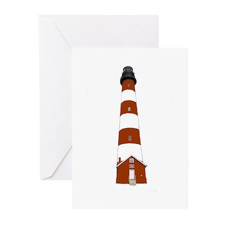Assateague Lighthouse Greeting Cards (Pk of 10
