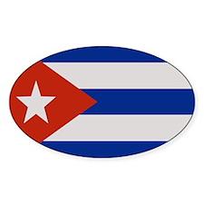 """""""Cuba Flag"""" Oval Decal"""