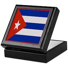 """Cuba Flag"" Keepsake Box"