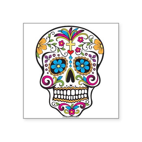 Day of The Dead Sugar Skull, Halloween Sticker