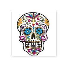 Day of The Dead Sugar Skull, Halloween Sticker