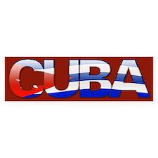 """Cuba Bubble Letters"" Bumper Bumper Sticker"