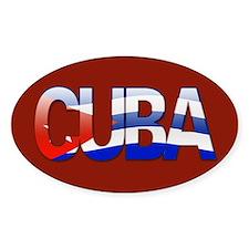 """Cuba Bubble Letters"" Oval Decal"