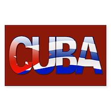 """Cuba Bubble Letters"" Rectangle Decal"