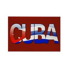 """""""Cuba Bubble Letters"""" Rectangle Magnet"""