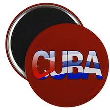 """""""Cuba Bubble Letters"""" Magnet"""