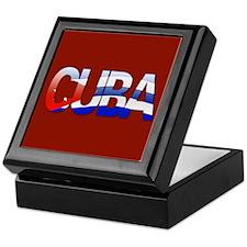 """""""Cuba Bubble Letters"""" Keepsake Box"""