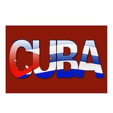 """Cuba Bubble Letters"" Postcards (Package of 8)"